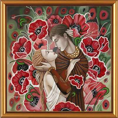 Бис 3194 Влюбленная пара (рисунок на ткани)