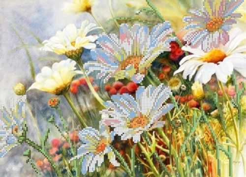 """S-035 """"Полевые цветы"""" - рисунок на ткани"""