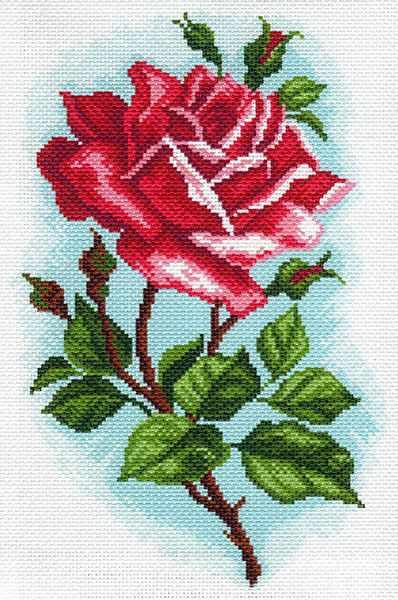 1587 Роза Осирия рисунок на канве (МП)