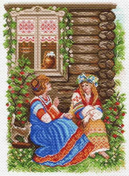 1553 Деревенские каникулы рисунок на канве (МП)