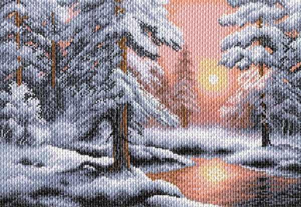 1527 Морозная сказка - рисунок на канве (МП)