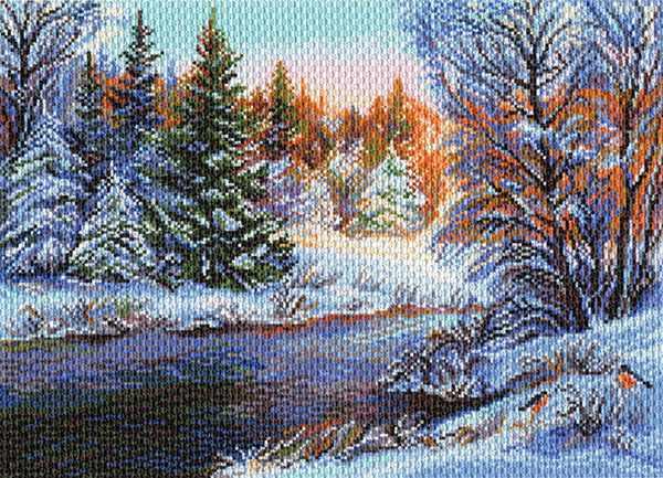 1524 Мороз и солнце - рисунок на канве (МП)