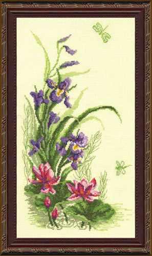 """232 """"Триптих. Полевые цветы""""  (ирисы) - чм"""