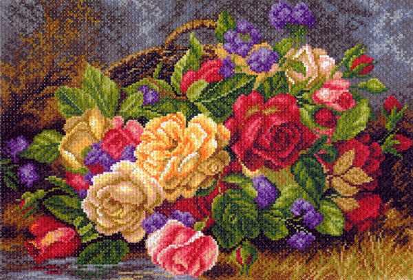 1540 Цветы в корзине (Альберт Вильямс) - набор для вышивания
