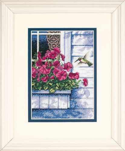 65037-DMS Цветы и колибри