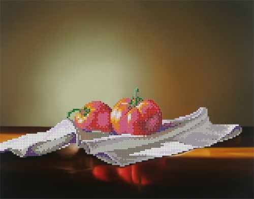 "SA-125 ""Натюрморт с помидорами"" - рисунок на ткани"