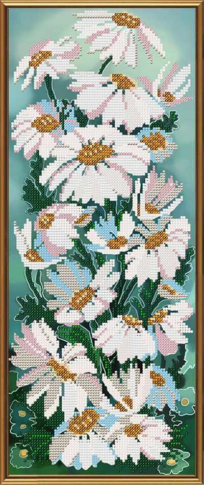 Бис 4104 Полевые ромашки (рисунок на ткани)