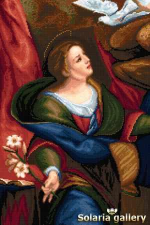 1112-18 Дева со Св. Духом - бумажная схема