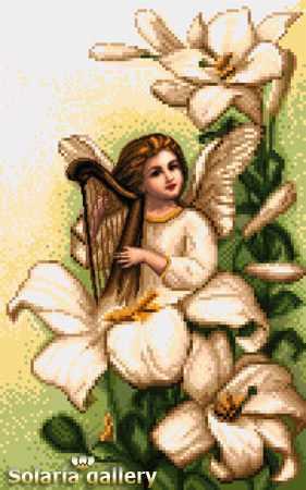 1113-32 Ангел белой лилии