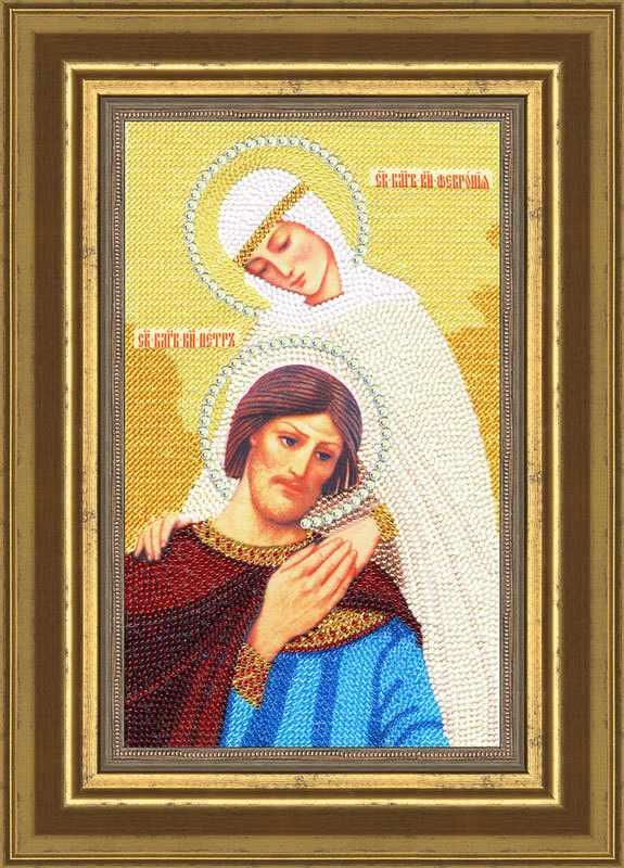 """РТ-061 Икона """"Святые Петр и Феврония"""". Рисунок на ткани"""