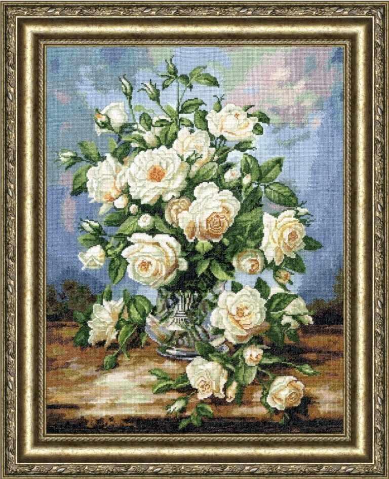 ЛЦ-043 Букет белых роз. Любимые цветы