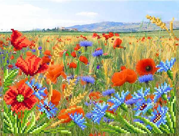 4121 Полевые цветы - схема для вышивания (Матрёнин посад)