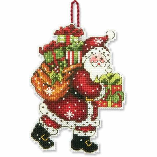 8912-DMS Санта с мешком (украшение)