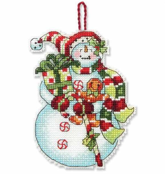 8915-DMS Снеговик со сладостями (украшение)