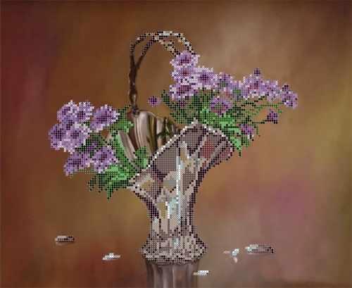 """S-131 """"Цветочный натюрморт"""" - рисунок на ткани"""