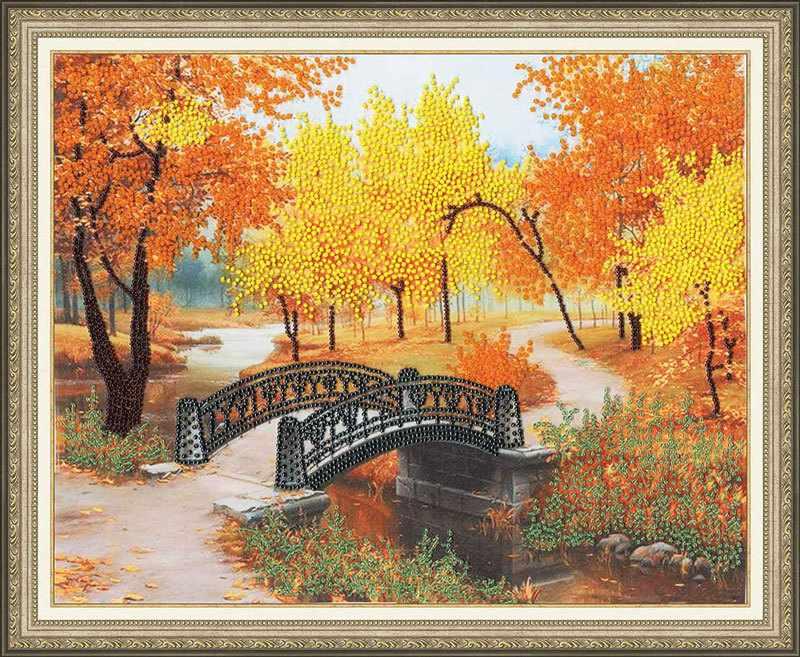 РТ-066 Осенний парк. Рисунок на ткани