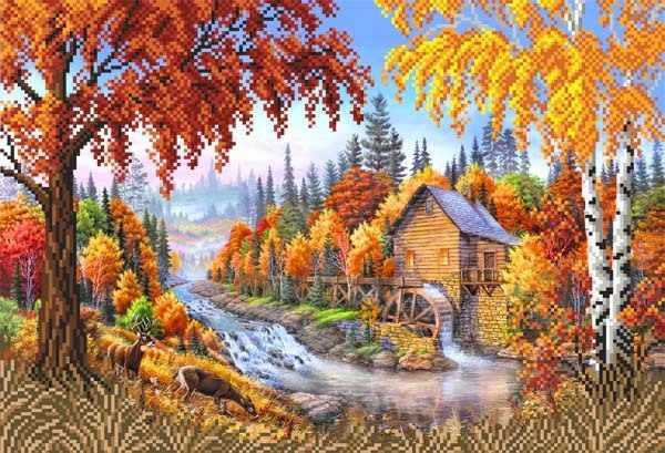 4125 Осень - схема для вышивания (Матрёнин посад)