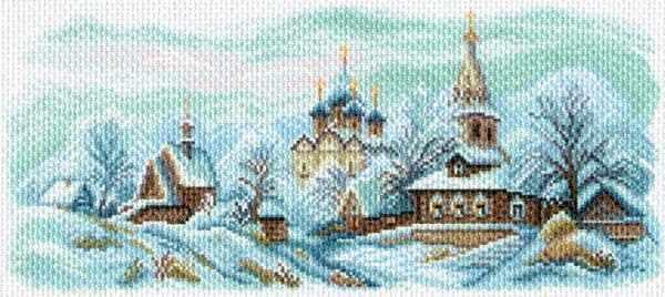 1625 Зимний Суздаль -  рисунок на канве (МП)