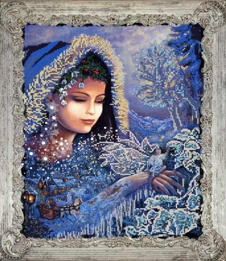 НИК 9722 Зимушка-зима - схема для вышивания (Конёк)