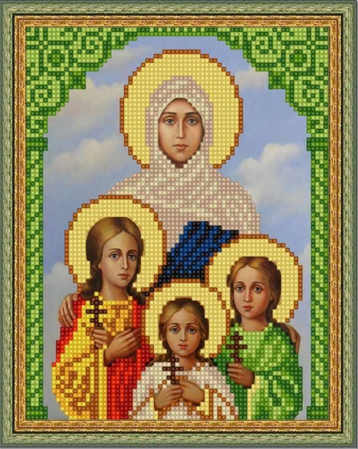 НИК 9181 Вера, Надежда,Любовь и София - схема для вышивания (Конёк)