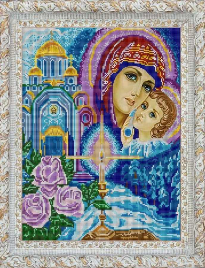 НИК 9733 Богородица - схема для вышивания (Конёк)
