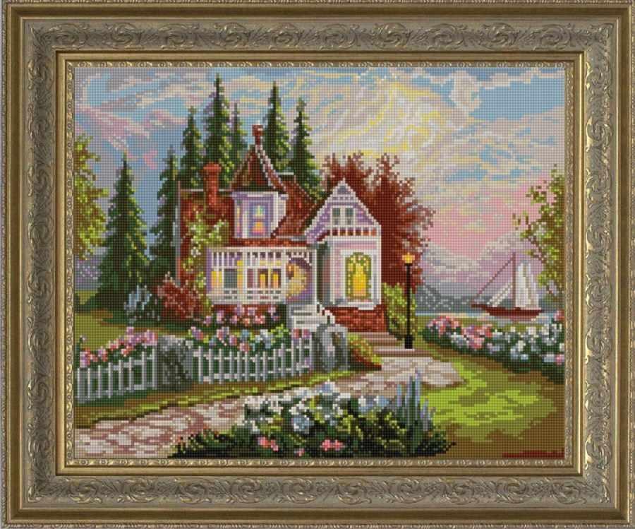 НИК 9657 Дом мечты - схема для вышивания (Конёк)
