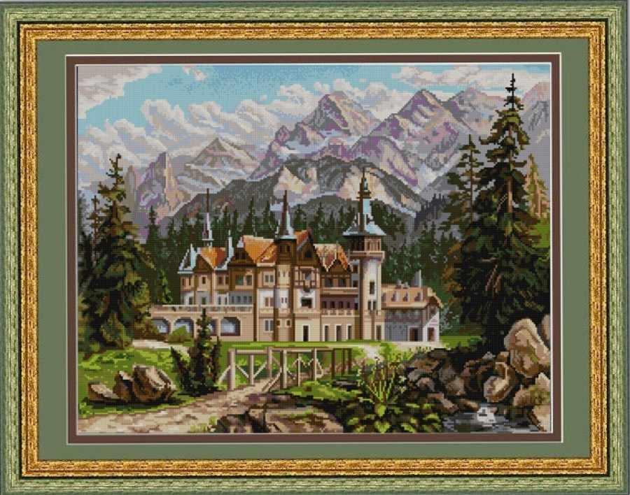 НИК 9660 Замок - схема для вышивания (Конёк)