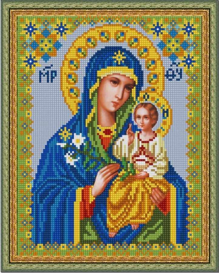 НИК 9216 Богородица Неувядаемый цвет - схема для вышивания (Конёк)
