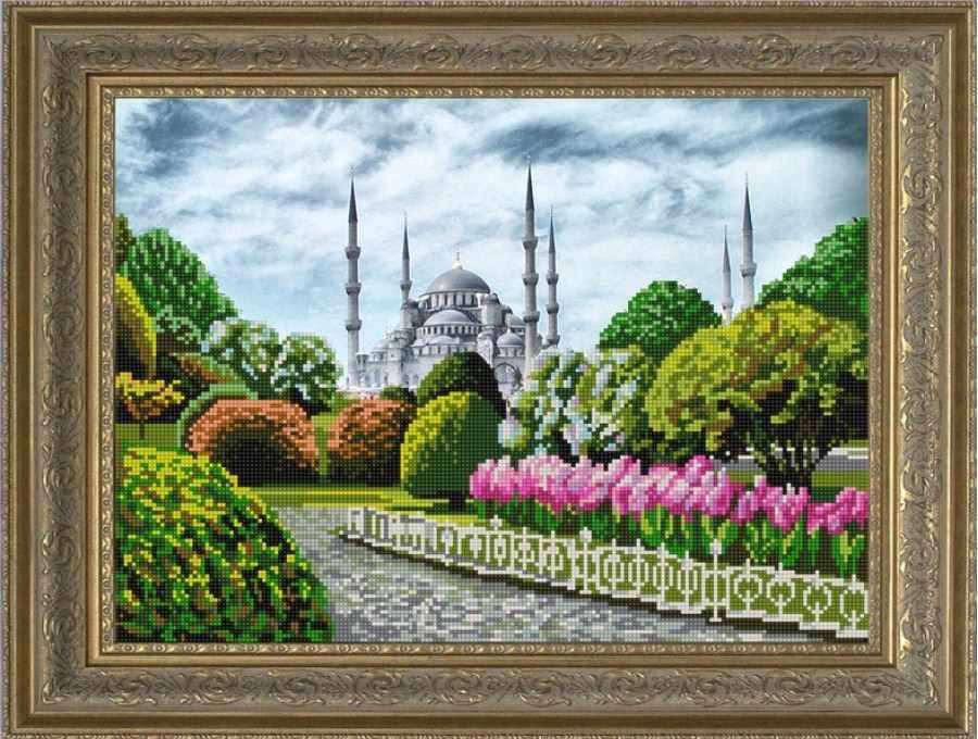 НИК 9672 Голубая мечеть - схема для вышивания (Конёк)