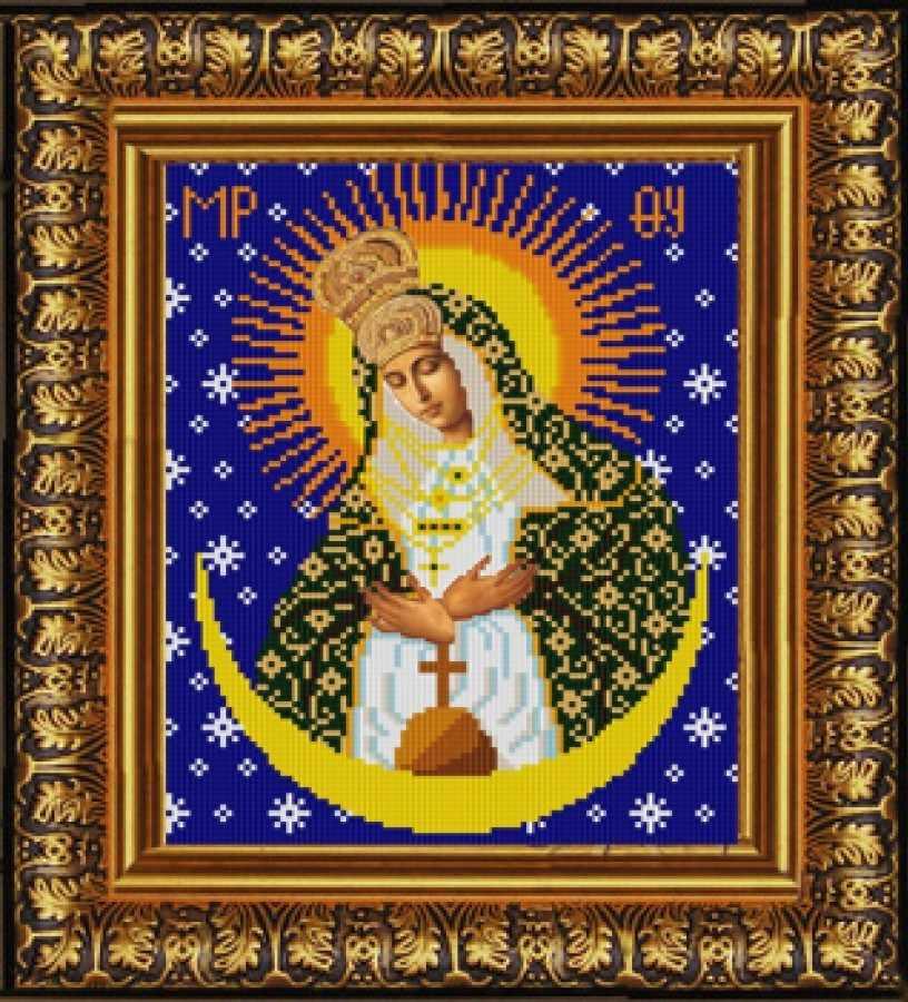 НИК 9237 Богородица Остробрамская - схема для вышивания (Конёк)