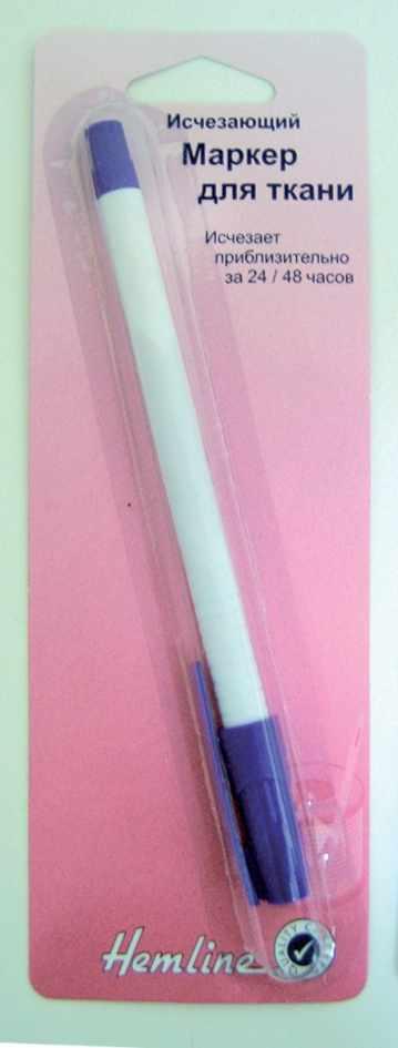 296 Маркер д/ткани исчезающий, фиолетовый