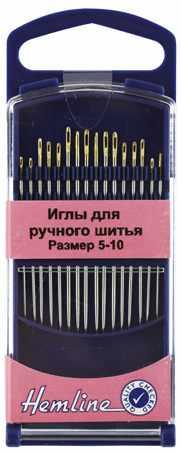 288G510 Иглы для ручного шитья с острым кончиком в пластиковом контейнере