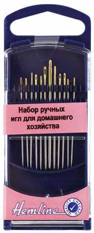 214G Иглы ручные для домашнего хозяйства в пластиковом контейнере