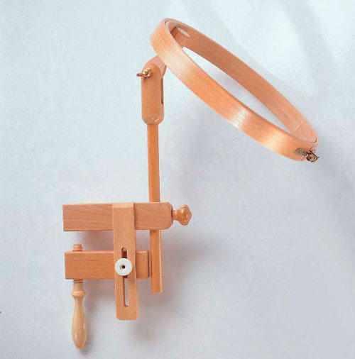 264-8 Пяльцы с креплением для стола, диаметр 25 см бук