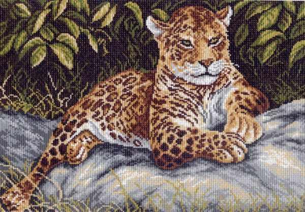 671 Гепард - рисунок на канве (МП)