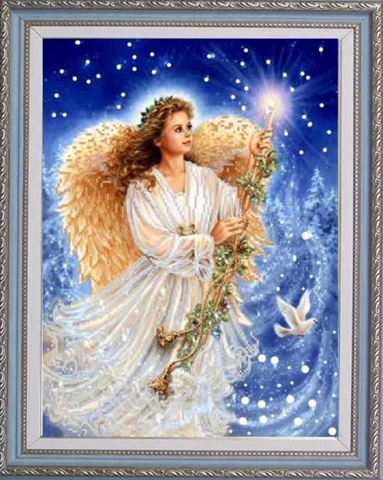 НИК 9751 Рождественский ангел - схема для вышивания (Конёк)