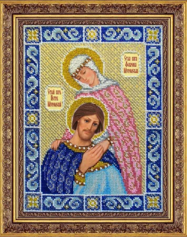 Б1019 Св.кн. Петр и Феврония Муромские (Паутинка)