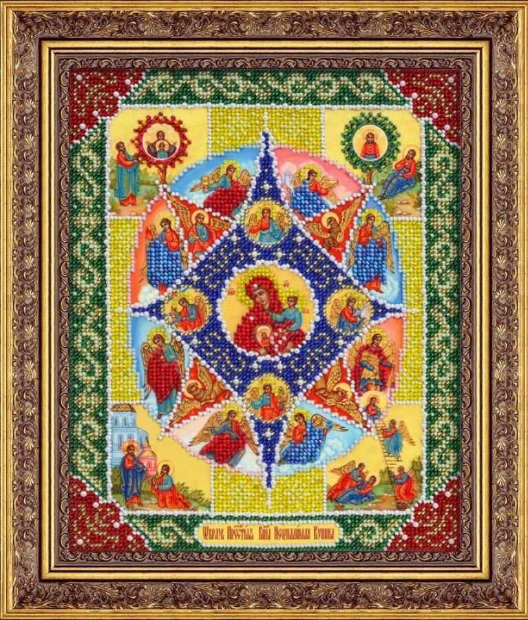 Б1041 Пр.Богородица Неопалимая купина (Паутинка)