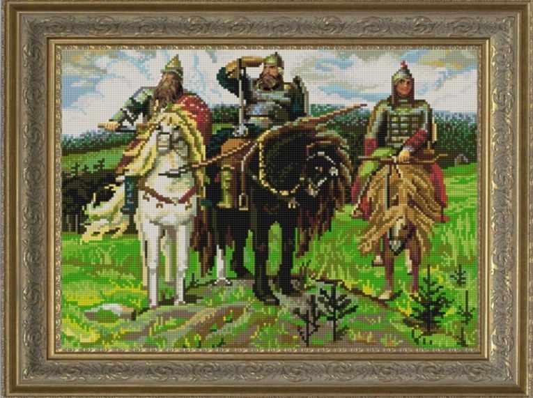 НИК 9765 Три богатыря - схема для вышивания (Конёк)