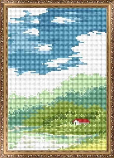 401504 Дом у озера - мозаика Anya