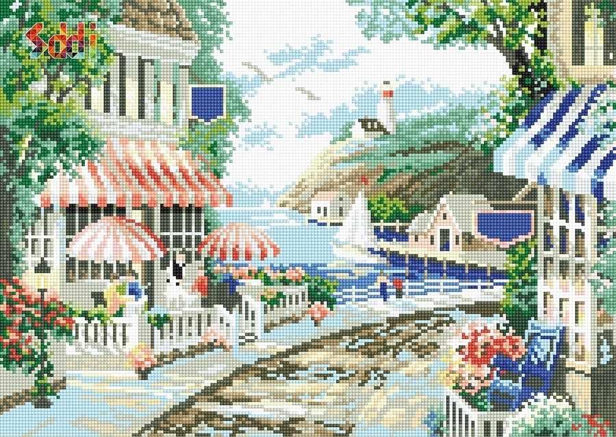 71032,13 Прибрежная улочка - мозаика Anya