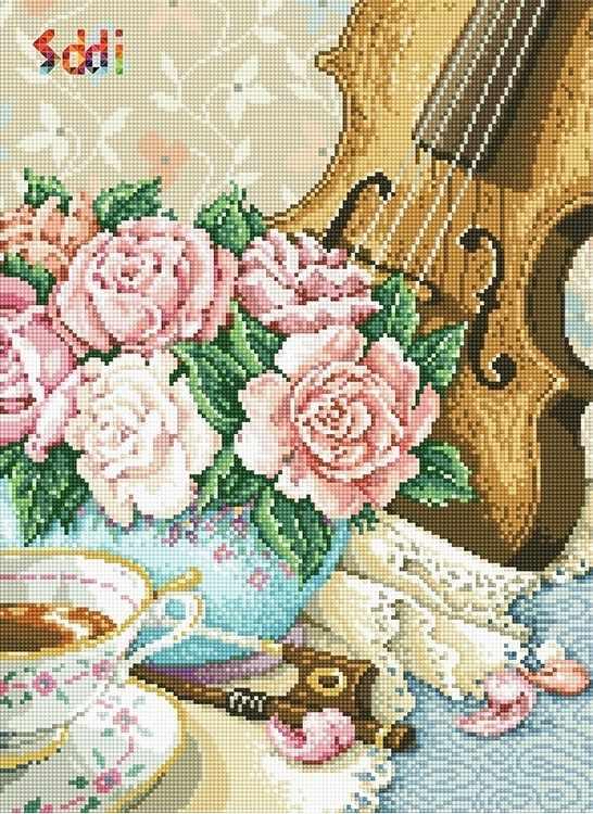 71060,24 Натюрморт со скрипкой - мозаика Anya