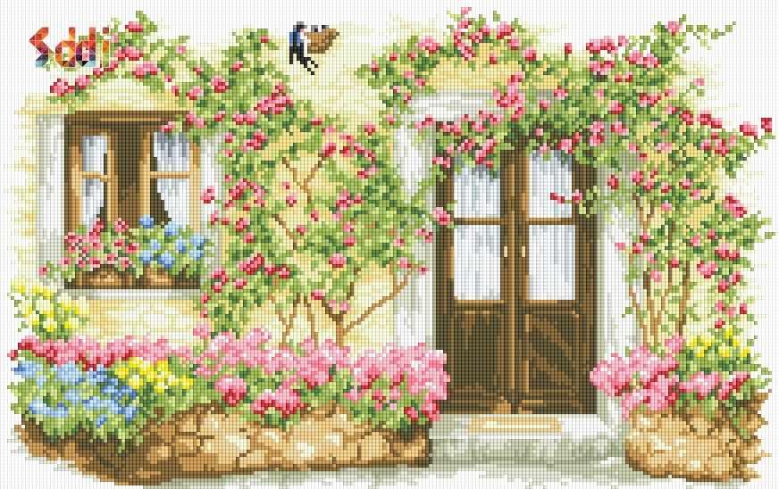 Алмазная вышивка 71132,11 Пейзаж - мозаика Anya