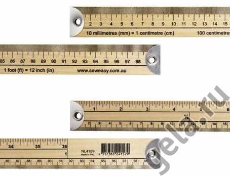 NL4189/B Линейка портновкая с градацией с сантиметрах и дюймах