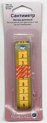 """256 Сантиметр экстрадлинный с градацией в дюймах и сантиметрах 300 мм/120"""", 20 мм / 3/4"""""""
