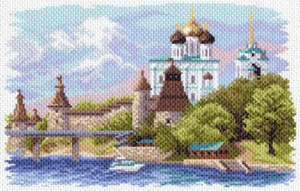 1645 Псковский кремль - рисунок на канве (МП)