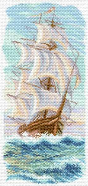 1639 Утренний бриз - рисунок на канве (МП)