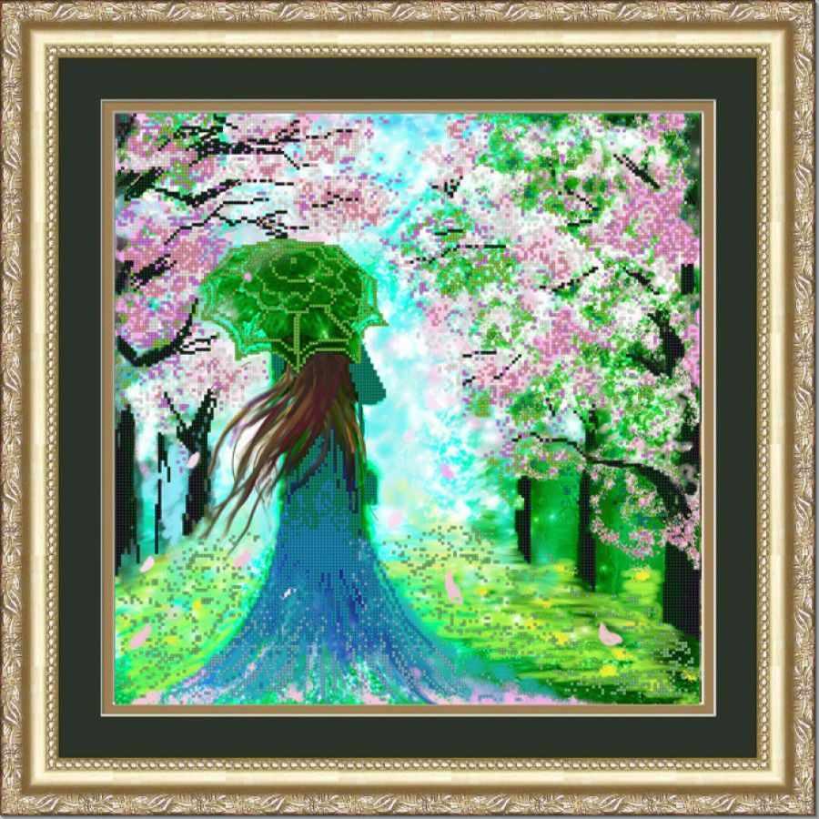 НИК 9777 Леди Весна - схема для вышивания (Конёк)