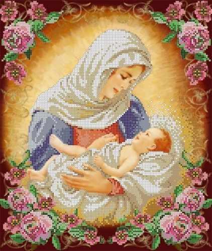 """S-176 """"Дева Мария"""" - рисунок на ткани"""