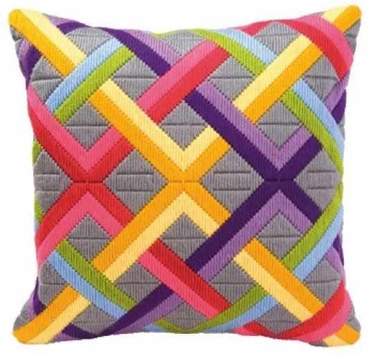 PN-0010865 Цветные диагонали на сером